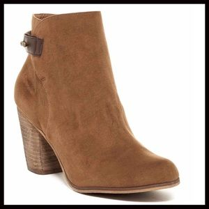 Abound Shoes - VEGAN SUEDE HEELED SHORT ANKLE BOOTS BOOTIES